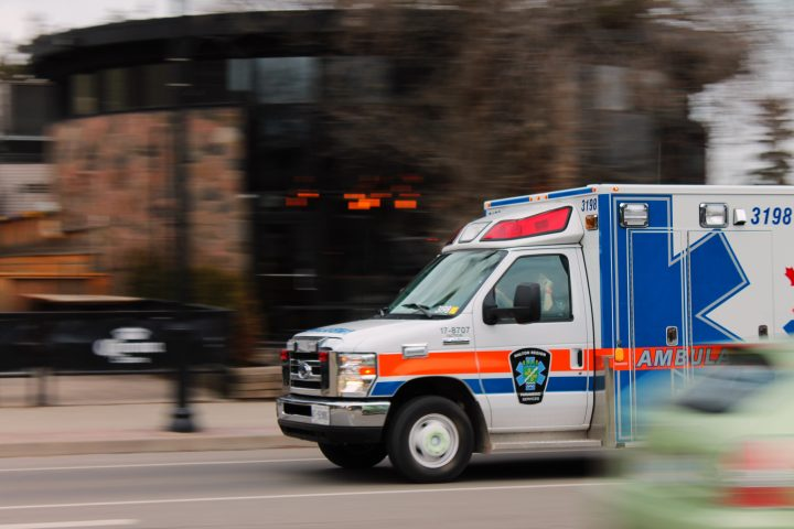 Ambulance screaming down street